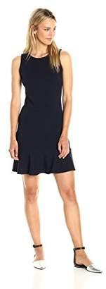 Paris Sunday Women's Sleeveless Flounce Hem Dress