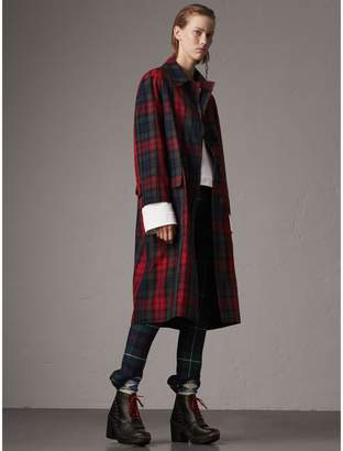 Burberry Tartan Cotton Gabardine Car Coat