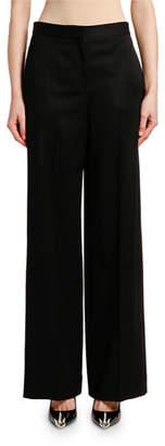 Alexander McQueen Wide-Leg Lightweight Wool-Silk Pants