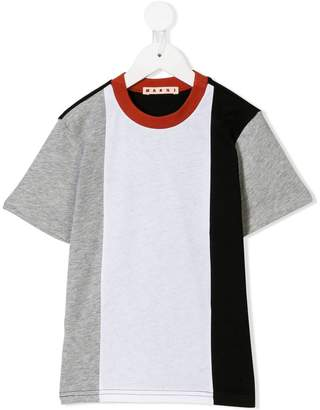 Marni contrast collar stripes T-shirt