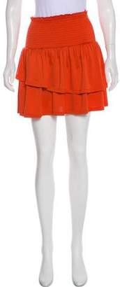 Baum und Pferdgarten Ruffled Mini Skirt