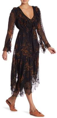 Free People Eliza V-Neck Asymmetrical Midi Dress