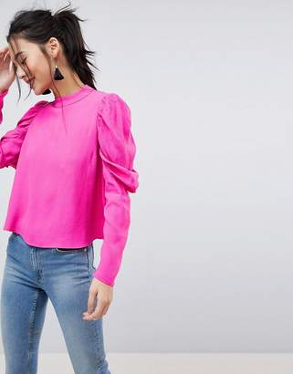 Asos Design DESIGN Boxy Top with Exaggerated Sleeve