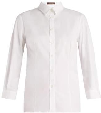 Carolina Herrera Slim Fit Cotton Shirt - Womens - White