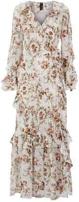 Needle & Thread Garland Petal Wrap Gown
