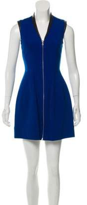 Yigal Azrouel Leather Trim Zip Dress