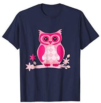 Cute Owl T-Shirt Gift Bird Tee For Men