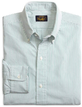 Brooks Brothers Own Make Green Pencil Stripe Sport Shirt