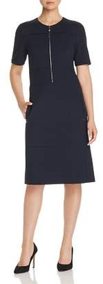 Lafayette 148 New York Demi Partial-Zip Paneled Dress