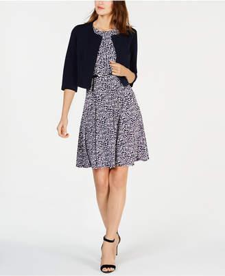 c9089b0f4f6 Jessica Howard Petite 3 4-Sleeve Jacket   Belted Fit   Flare Dress