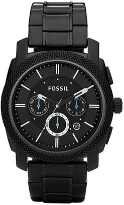 Fossil Mens Machine Black Dial Chrono Watch