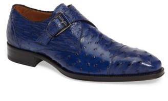 Men's Mezlan Cohen Ostrich Cap Toe Monk Shoe $695 thestylecure.com