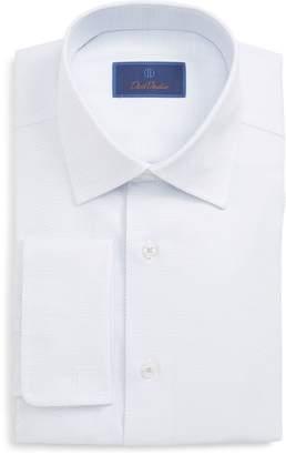 David Donahue Regular Fit Print Dress Shirt