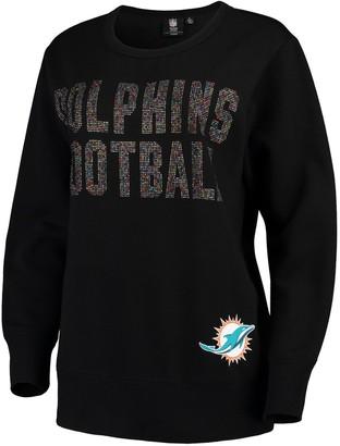 SuperStar G Iii Women's G-III 4Her by Carl Banks Black Miami Dolphins Pullover Sweatshirt