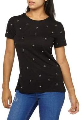 Dorothy Perkins Daisy-Embroidered Tee