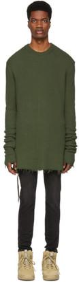 Unravel Green Hybrid Elongate Crewneck Sweater