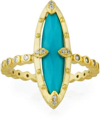 Freida Rothman Amazonian Allure Turquoise Cocktail Ring, Size 8