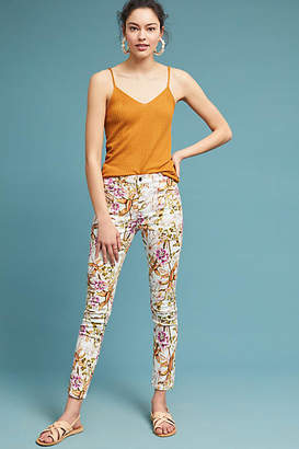 7 For All Mankind JEN7 by Jen7 by Havana Tropics High-Rise Skinny Ankle Jeans