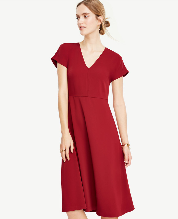 Ann TaylorPetite Flare Midi Dress