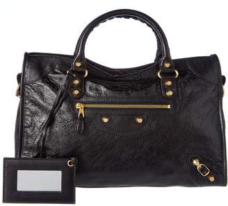 Balenciaga Classic Arena Gold City Leather Shoulder Bag
