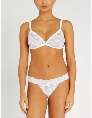 59b3127acb Cosabella Never Say Never Dreamie triangle lace bralette
