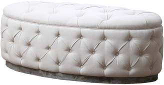 Abbyson Living Beachwood Tufted Ottoman Bench
