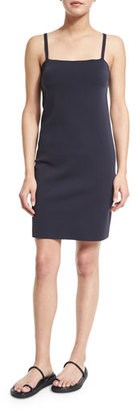 Helmut Lang Sleeveless Technical Neoprene Scuba Dress, Navy $395 thestylecure.com
