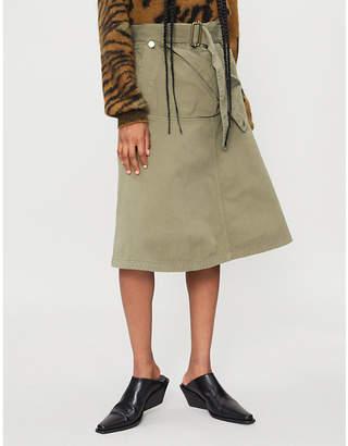 J.W.Anderson Pocket-panel cotton-drill skirt
