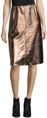 Manoush Leather Metallic Skirt