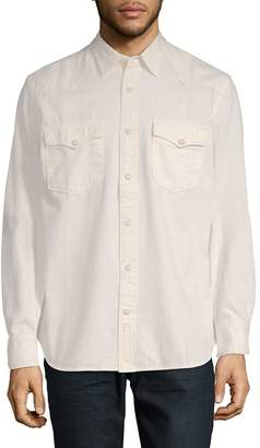 Jean Shop Men's Cotton Button-Down Shirt
