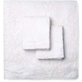 Melange Home Victoria Cotton Embroidered Quilt Set