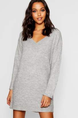 boohoo V Neck Loose Fit Dress