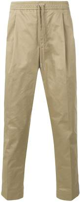 Moncler drawstring chino trousers