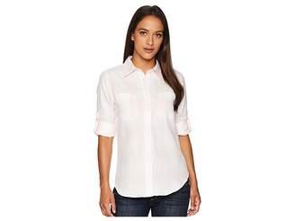 Lauren Ralph Lauren Petite Plaid Rolled-Cuff Cotton Shirt Women's Clothing