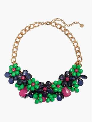 Talbots Statement Beaded Flower Necklace