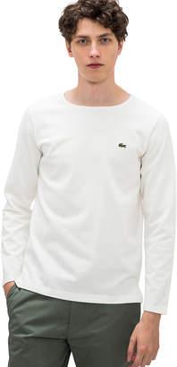 Lacoste (ラコステ) - コットンピケバスクTシャツ (長袖)
