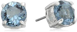 "Anne Klein Coastal Cruise"" Silver-Tone/ Stud Earrings"
