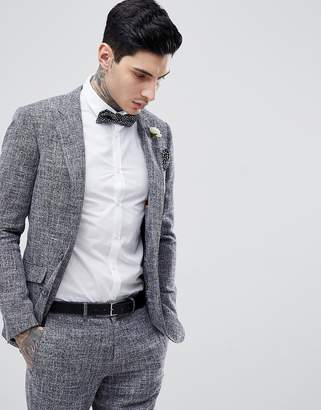 Gianni Feraud Skinny Fit Nepp Suit Jacket