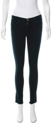 Frame Low-Rise Skinny Jeans