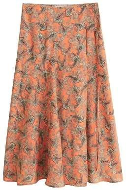 MANGO Paisley patterned midi skirt