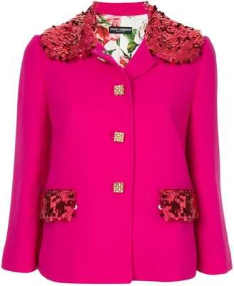Dolce & Gabbana sequin embellished blazer