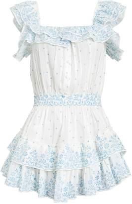 LoveShackFancy Marina Polka Dot Mini Dress