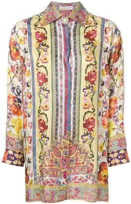 Etro bohemian flower print shirt