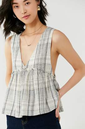 Urban Outfitters Melody Plunging Babydoll Top