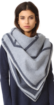 Tory Burch Fret Whipstitch Blanket Scarf $350 thestylecure.com