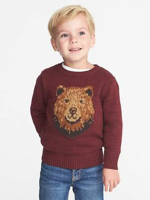 Old Navy Bear-Graphic Sweater for Toddler Boys