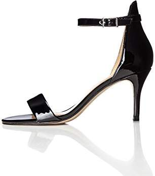 2fba03620a7 FIND Women s Ankle Strap Sandals in Patent Leather with Stiletto Heel