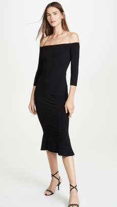 Norma Kamali Off The Shoulder Fishtail Dress