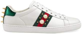 Gucci Ace studded leather sneaker