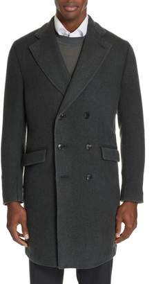 Boglioli Trim Fit Double Breasted Wool & Cashmere Coat